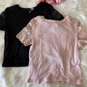 Lace tops H&M set of two GUC